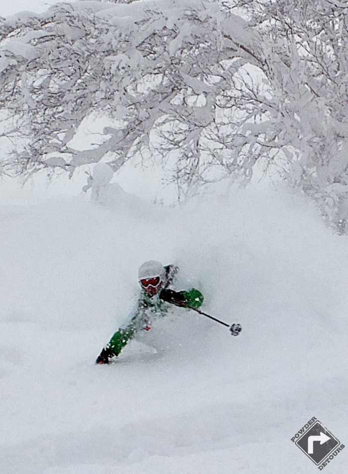 Powder Detours & Niseko Academy bossman had to join the trip for this massive pow day!