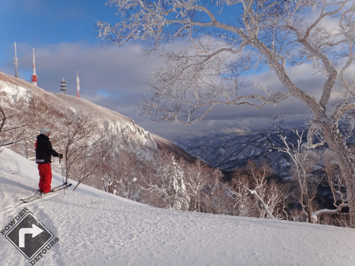 Brian enjoying the view from Sapporo Teine