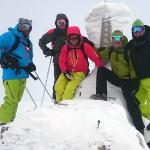 At the Mt Annupuri Peak
